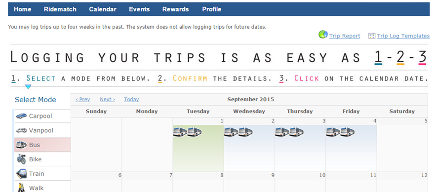 How to use the go redmond calendar go redmond for Carpool calendar template